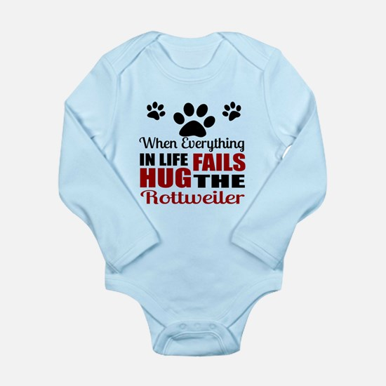 Hug The Rottweiler Long Sleeve Infant Bodysuit