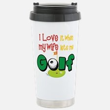 Cute Golfers green Travel Mug