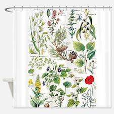 Botanical Illustrations - Larousse Shower Curtain