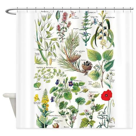 botanical larousse shower curtain