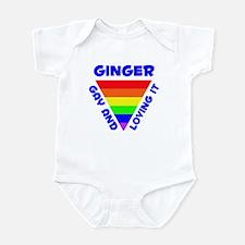 Ginger Gay Pride (#005) Infant Bodysuit
