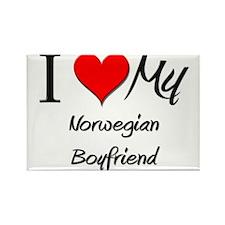 I Love My Norwegian Boyfriend Rectangle Magnet (10