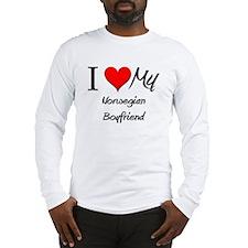 I Love My Norwegian Boyfriend Long Sleeve T-Shirt