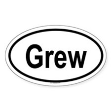 GREW Oval Decal