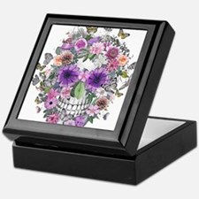 flower skull Keepsake Box