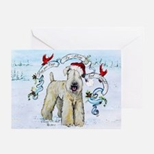 Wheaten Terrier Christmas Greeting Cards