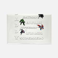 Daddy Superhero T Shirt Magnets