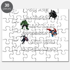 Daddy Superhero T Shirt Puzzle
