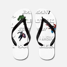 Daddy Superhero T Shirt Flip Flops