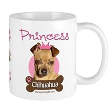 Funny Princess Chihuahua Coffee Tea Mug