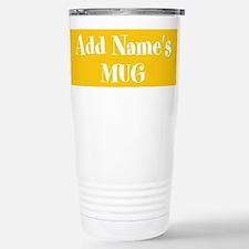 YELLOW Personalized Travel Mug