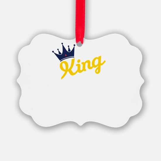 king and quen couple Ornament