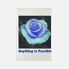 Blue Rose Rectangle Magnet