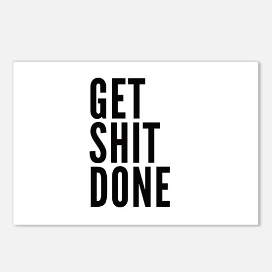 Get Shit Done Postcards (Package of 8)