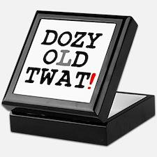 DOZY OLD TWAT! Keepsake Box