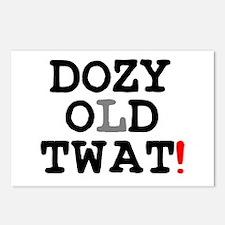 DOZY OLD TWAT! Postcards (Package of 8)
