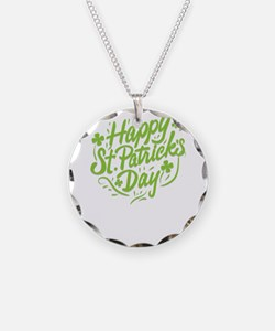 happy st patrick's day Necklace Circle Charm