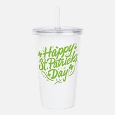 happy st patrick's Acrylic Double-wall Tumbler