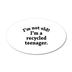 Recycled Teenager 22x14 Oval Wall Peel