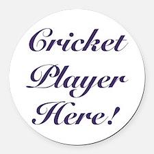 Cricket Player Round Car Magnet