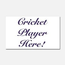 Cricket Player Car Magnet 20 x 12