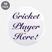 """Cricket Player 3.5"""" Button (10 pack)"""