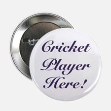 """Cricket Player 2.25"""" Button (10 pack)"""