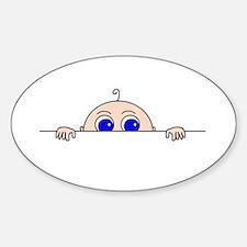 PEEK-A-BOO BABY (Blue Eyes) Decal