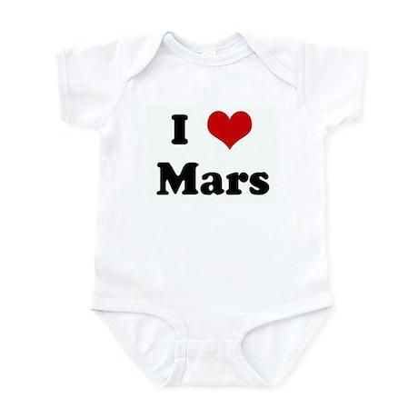 I Love Mars Infant Bodysuit