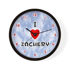 I Love Zachery (Red/Blk) Valentine Wall Clock