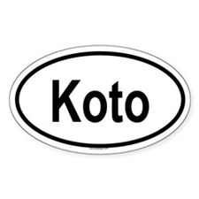 KOTO Oval Decal