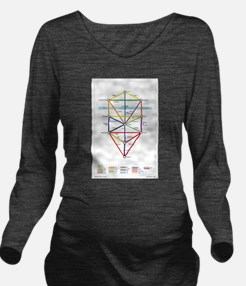 Kabbalah Long Sleeve Maternity T-Shirt