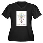 Kabbalah Women's Plus Size V-Neck Dark T-Shirt