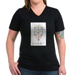 Kabbalah Women's V-Neck Dark T-Shirt