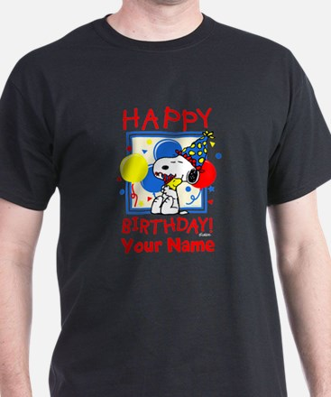 Peanuts Happy Birthday Red Personaliz T-Shirt