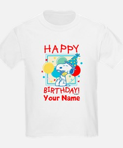 Peanuts Happy Birthday Red Pers T-Shirt