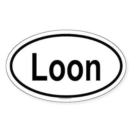 LOON Oval Sticker
