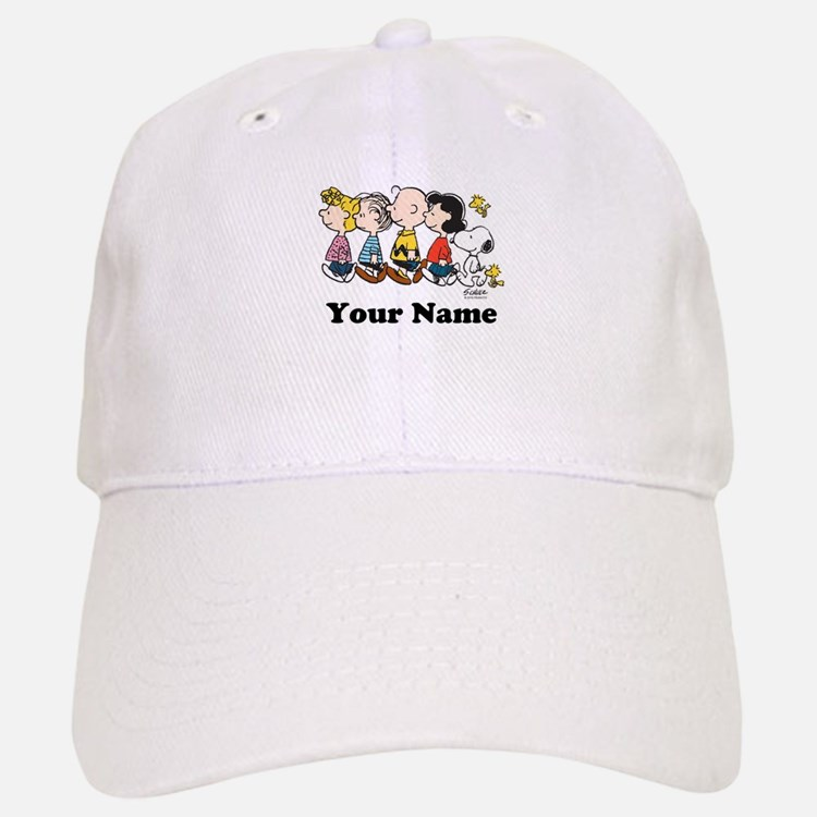 Peanuts Walking No BG Personalized Baseball Baseball Cap
