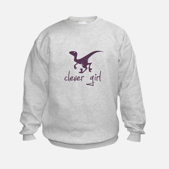 Clever Girl Dinosaur Velociraptor Sweatshirt