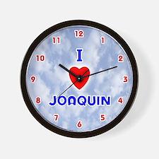 I Love Joaquin (Red/Bl) Valentine Wall Clock