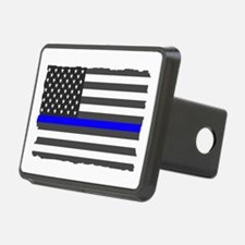 Us Flag Blue Line Hitch Cover