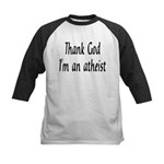 Thank God I'm an atheist Kids Baseball Jersey