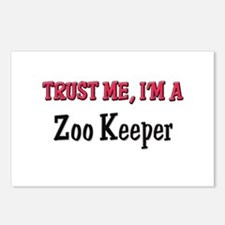 Trust Me I'm a Zoo Keeper Postcards (Package of 8)