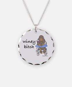 Winey Bitch Poodle Brown Necklace