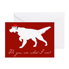 Santa's Setter Greeting Cards (Pk of 10)