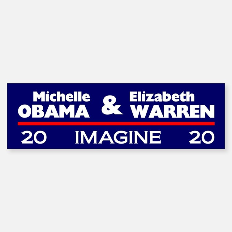 Michelle Obama And Elizabeth Warren Bumper Bumper Bumper Sticker