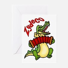 Zydeco Gator Greeting Cards (Pk of 10)
