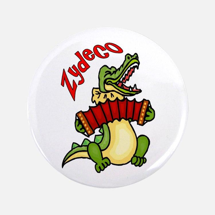 "Zydeco Gator 3.5"" Button"