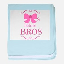 Bows Before Bros Baby Blanket