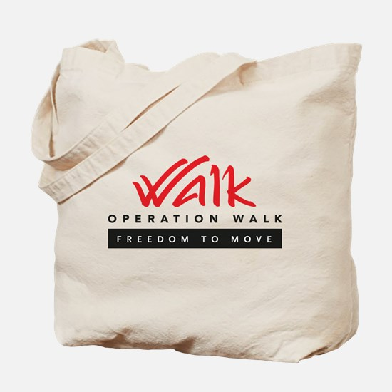 Operation Walk Freedom to move Logo Tote Bag